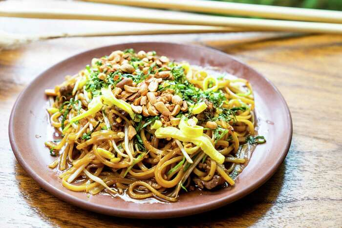 A Cambodian-style noodle stir-fry called kuy teav cha is part of the menu at Golden Wat Noodle House from the wife-and-husband team of Susan Kaars-Sypesteyn and Pieter Sypesteyn, who also own and operate Cookhouse Restaurant, NOLA Brunch & Beignets and Bud's Southern Rotisserie in San Antonio.