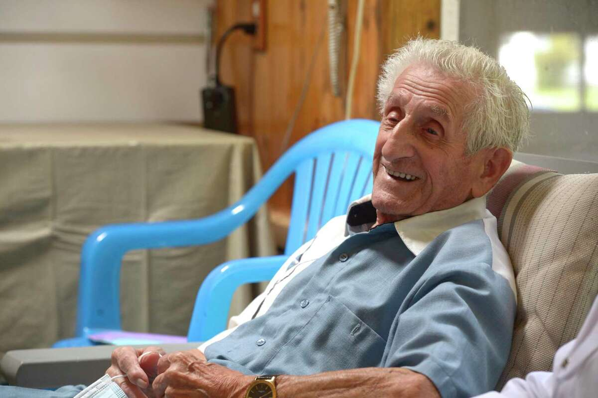 Angelo Testanero, a local musician and arranger, will turn 100 on August 5th. He still leads the Sonny Carroll Orchestra. Friday, July 31, 2020, in Danbury, Conn.