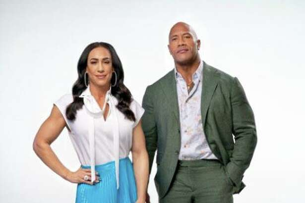 """Dwayne """"The Rock"""" Johnson, business partner and former wife Dany Garcia, left, and investment firm RedBird Capital Partners, which has offices in Greenwich, have announced their acquisition of the Vince McMahon-founded XFL for approximately $15 million."""