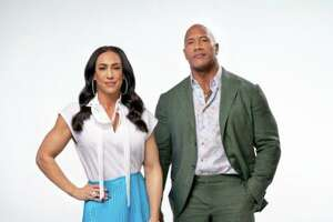 "Dwayne ""The Rock"" Johnson, business partner and former wife Dany Garcia, left, and investment firm RedBird Capital Partners, which has offices in Greenwich, have announced their acquisition of the Vince McMahon-founded XFL for approximately $15 million."