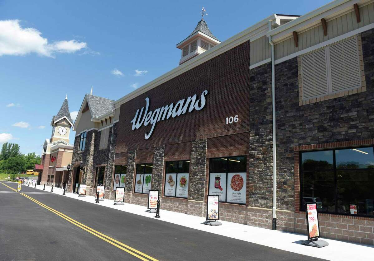 Photos from the new Wegmans supermarket in Harrison, N.Y. Monday, Aug. 3, 2020. The 121,000 sq. ft. store features prepared food and restaurant options, as well as an enormous variety of groceries and household essentials. Located just off Interstate 287, Wegmans will officially open for business on Wednesday at 9 a.m. The chain that started in Rochester, N.Y., in 1915 is known for its loyal customer following, and the management team that brought the store to completion during the coronavirus pandemic is hoping to repeat that successful formula at the new location on Corporate Park Drive near the I-287 corridor. The pandemic delayed the store's opening and caused numerous disruptions. The store was nearly complete in March when the public-health shutdown came. The June 7 opening date was pushed back to early August.