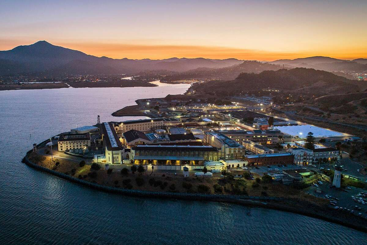 San Quentin Prison where a COVID-19 outbreak has spread to more than 1500 prisoners following a prisoner transfer in San Quentin, Calif., on Wednesday, July 8, 2020.