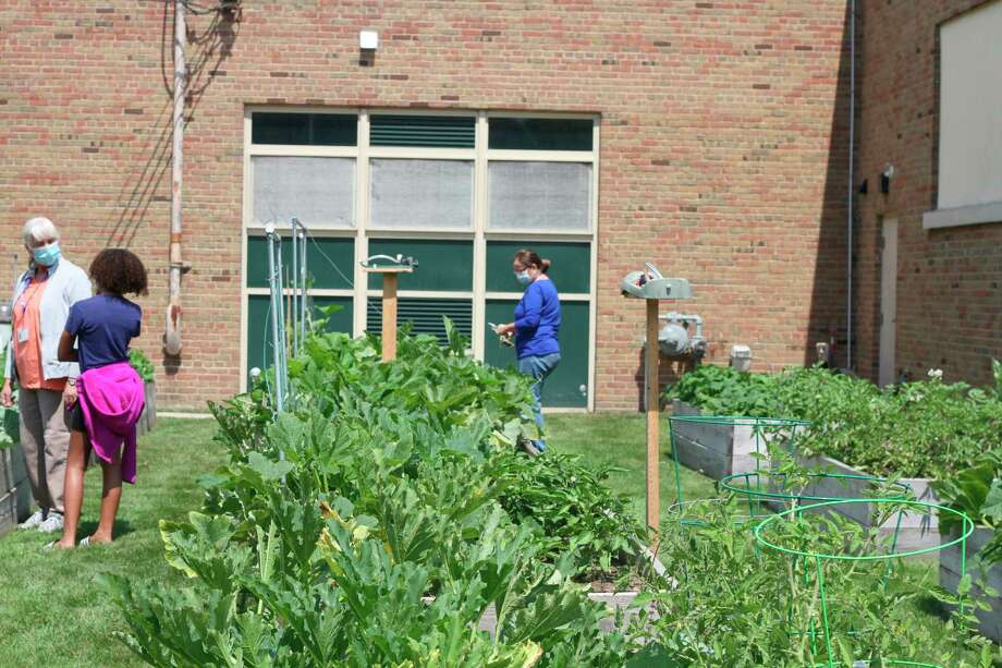 The Armory Youth Project offered a raised bed gardening workshop with the Spirit of the Woods Garden Club, Inc. Monday. (Kyle Kotecki/News Advocate)