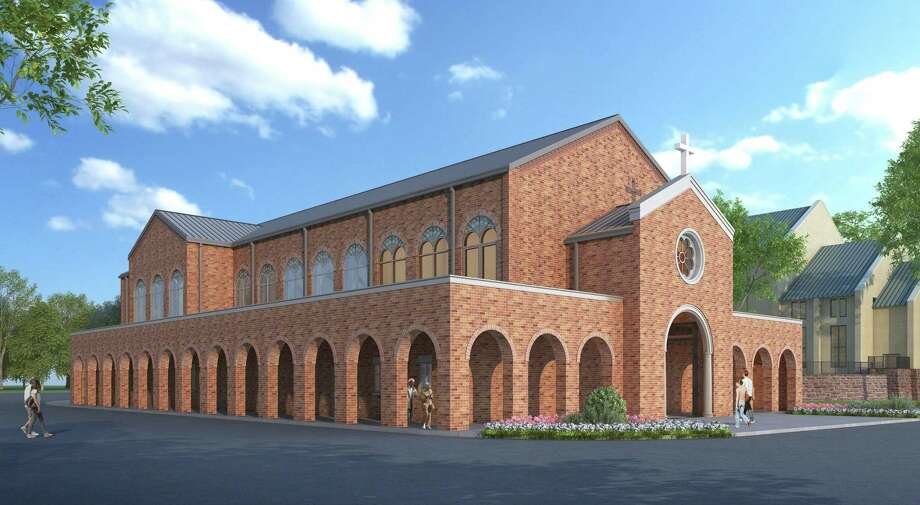 St. Anthony of Padua Catholic Church of The Woodlands plans to have its permitting for a new chapel finished by the end of next month. The new chapel, Our Lady of the Angels, is expected to break ground before the end of the year, and the church hopes to be celebrating its opening by Christmas of 2021. Pictured, an artistic rendering of what the chapel will look like from the outside. Photo: Provided.