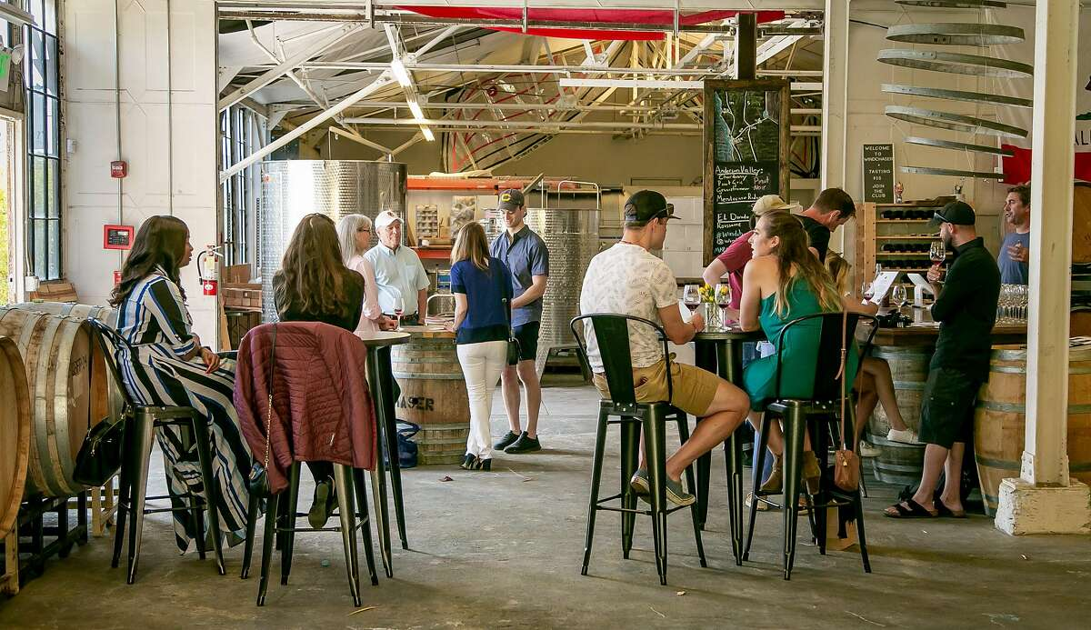 The interior of Windchaser Wine Co. in Berkeley, Calif. is seen on August 18th, 2018.