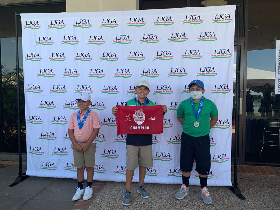 Arturo Cantu IV shot a 49 to win the boys' 10-11 division while Ediberto Flores II took second at 52 and Oscar Martinez II finished third at 66. Photo: Courtesy Of The LJGA