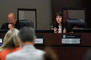Humble ISD Superintendent Dr. Elizabeth Fagen speaks during the discussion period during the Humble ISD board meeting to discuss the reopening of schools, Monday, August 3, 2020, in Humble.