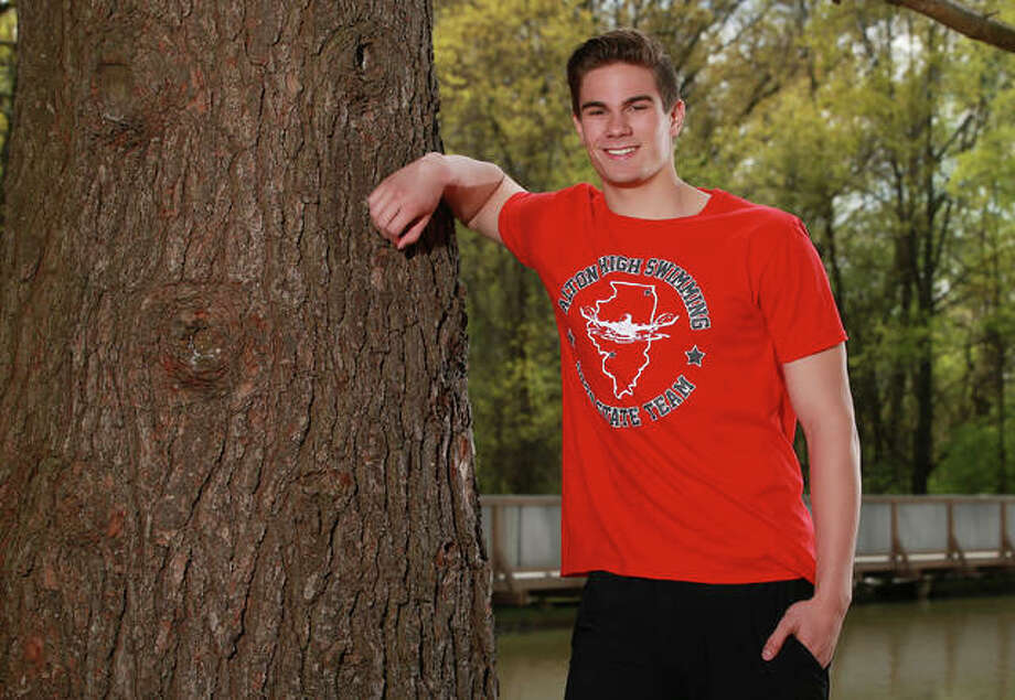 Alton High grad Noah Clancy, the 2020 Telegraph Boys Swimmer of the Year and a four-time IHSA state qualifier, will take his skills to Missouri S&T this fall. Photo: Billy Hurst, Front Row Photo | For The Telegraph