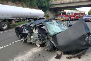 One person was injured in a multi-vehicle accident Monday, Aug. 3, on Route 8 southbound between exits 12 and 13.