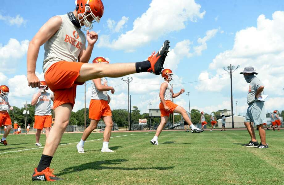 Orangefield varsity get in practice Monday, the first day smaller class schools were allowed to resume sport practices under latest UIL guidelines. Photo taken Monday, August 3, 2020 Kim Brent/The Enterprise Photo: Kim Brent/The Enterprise