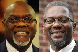 State Rep. Charlie Stallworth, left, and challenger Tony Barr.