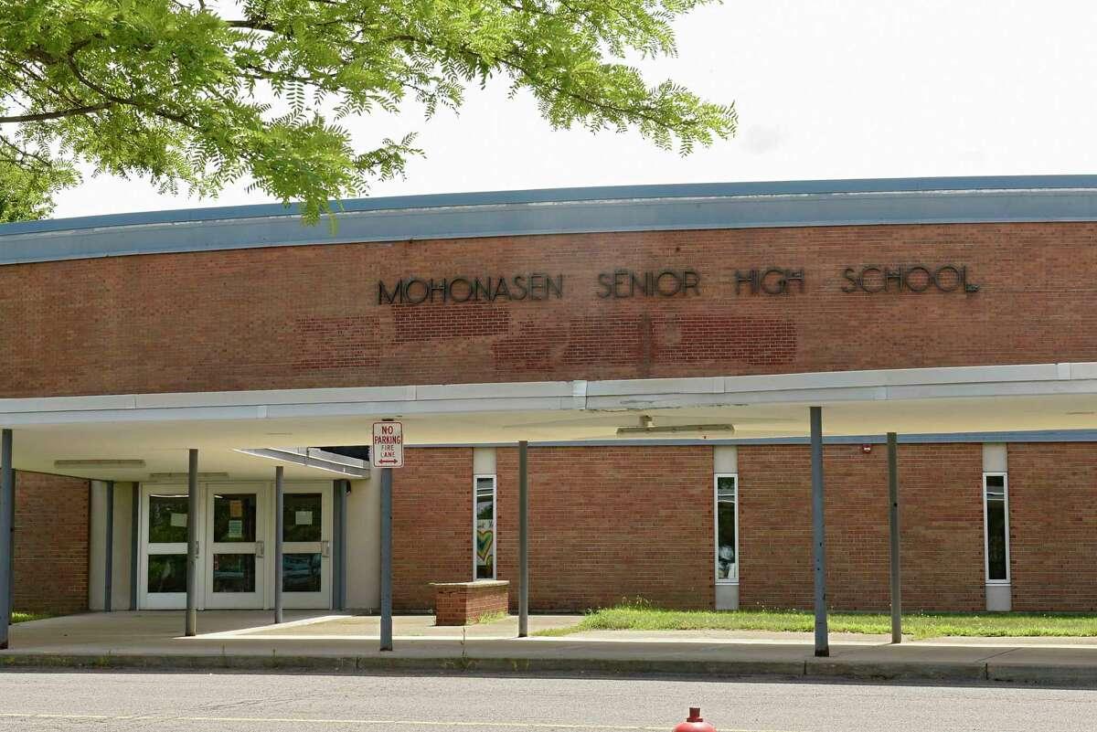 Exterior of Mohonasen High School on August, July 3, 2020 in Rotterdam, N.Y. (Lori Van Buren/Times Union)