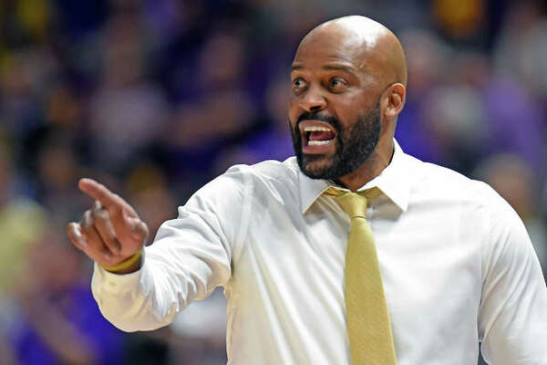 Missouri coach Cuonzo Martin gives instructions to his players in a college men's basketball game Feb. 11 in Baton Rouge, La.