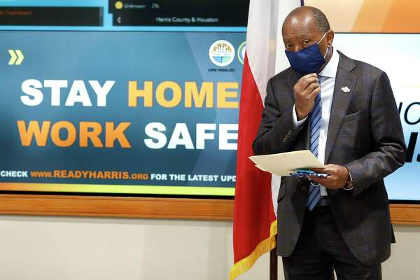 Houston Mayor Sylvester Turner, seen in this April 22, 2020 file photo, announced on Monday, Aug, 3, 2020, that he was ordering law enforcement officials to begin issuing citations and fines for those who violated the statewide face mask order.