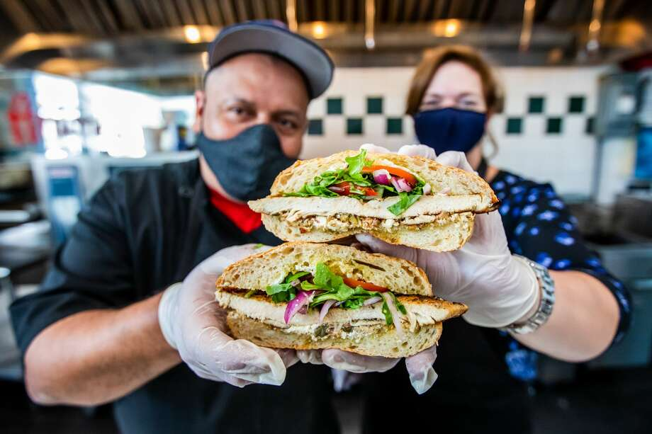 KRBE's Roula Christie is putting her culinary knowledge to good use, creating a signature sandwich at Antone's Famous Po' Boys for charity. Photo: Becca Wright Photography