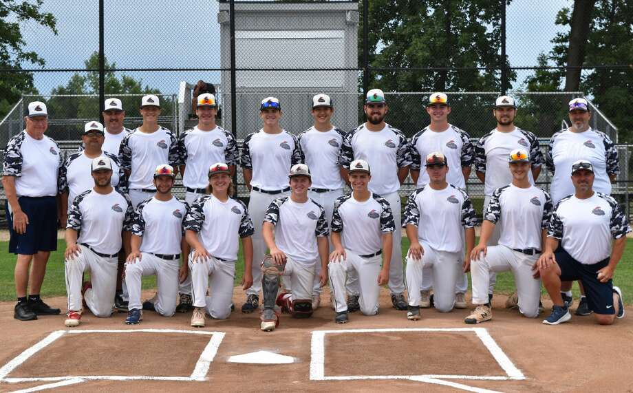Members of the Gladwin Thunder pose at Gainey Athletic Complex in Grand Rapids following their final tournament game of the summer. They are (back, from left) manager Terry Brokoff, assistant coach Mark Novak, assistant coach Scott Brokoff, Carson Oldani, Trent Reed, Chase Raymond, Isaac Morrison, Ethan Shea, Owen Franklin, Lane Peters, assistant coach Dan Merillat; and (front, from left) Hunter Merillat, Drew Grove, Colin Sackrider, Dane Smitz, Reed Raymond, John Cogswell, Jarrett Inscho, and assistant coach Ryan Raymond. Photo: Photo Provided