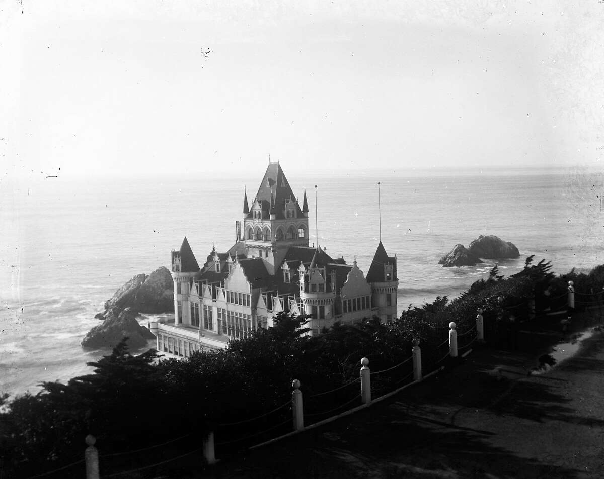 The Cliff House in 1907, seen from Sutro Heights, From the glass negatives