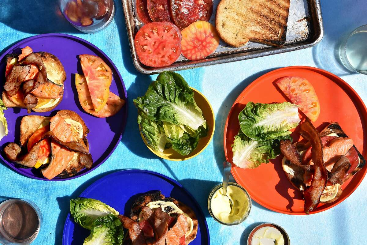 Everything (well, almost) Grilled Salmon BLT