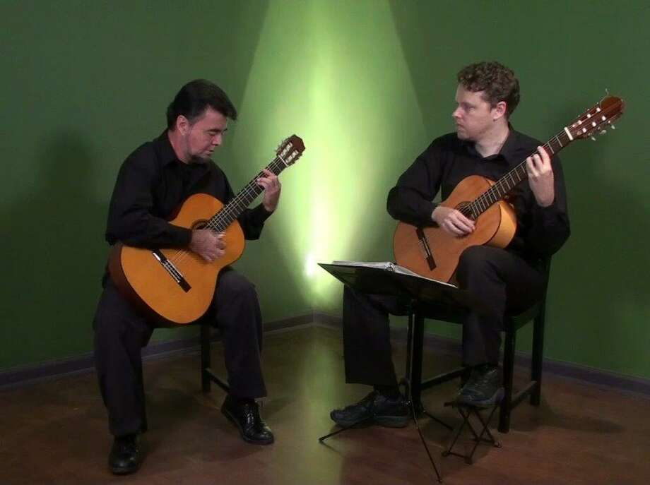 Carnaval Guitar Duo is comprised of classical guitarists Edward Grigassy and Rodrigo Gamboa. Photo: Friends Of The Arts Committee