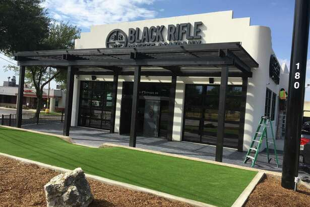 Black Rifle Coffee Co. is set to open its first San Antonio location at Black 180 W. Bitters Road by mid-August, and will have a dog park area in front of the coffee shop.