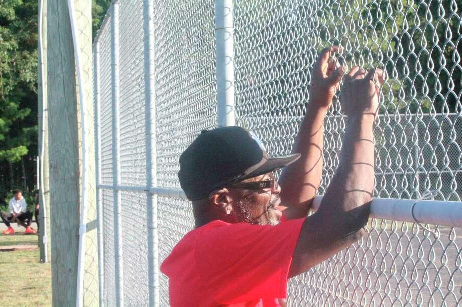 Baldwin's Frank Jones watches a game at Hollister Park. (Pioneer/John Raffel)