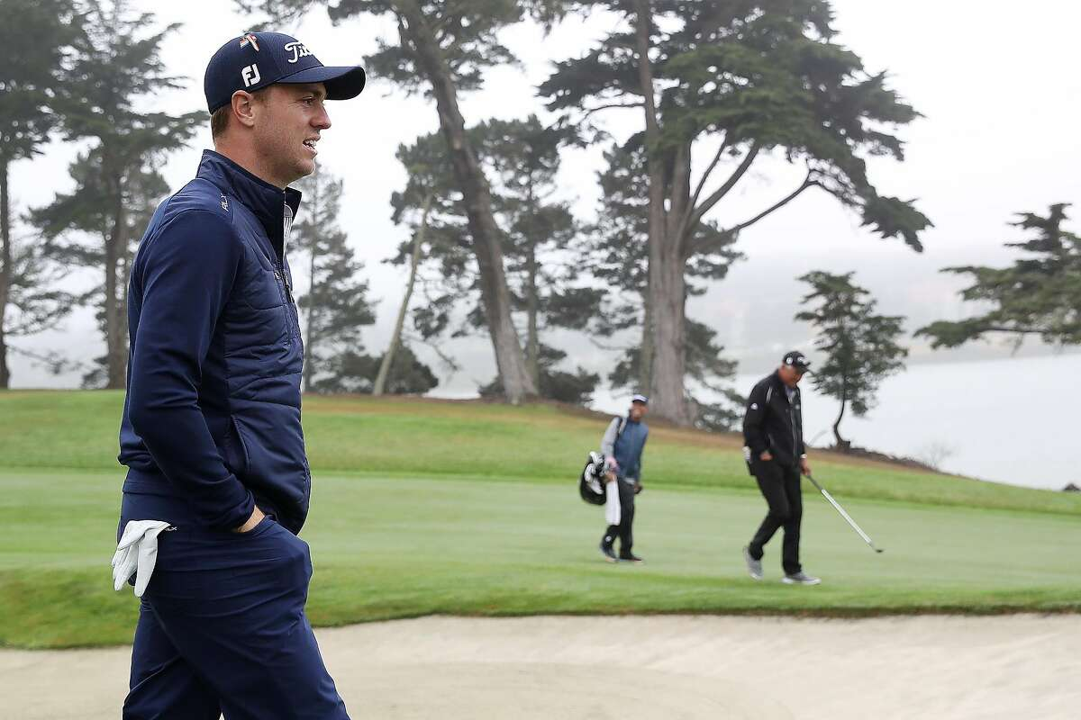 SAN FRANCISCO, CALIFORNIA - AUGUST 04: Justin Thomas of the United States looks on during a practice round prior to the 2020 PGA Championship at TPC Harding Park on August 04, 2020 in San Francisco, California. (Photo by Sean M. Haffey/Getty Images)