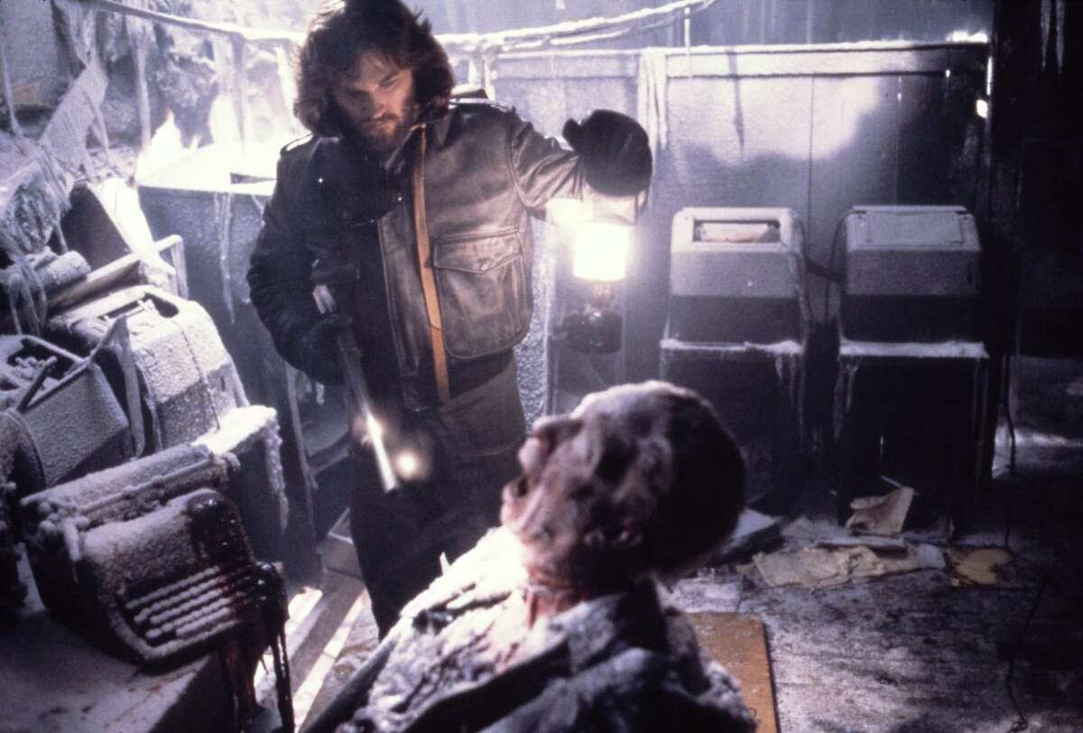 Kurt Russell makes a grim discovery in the horror movie