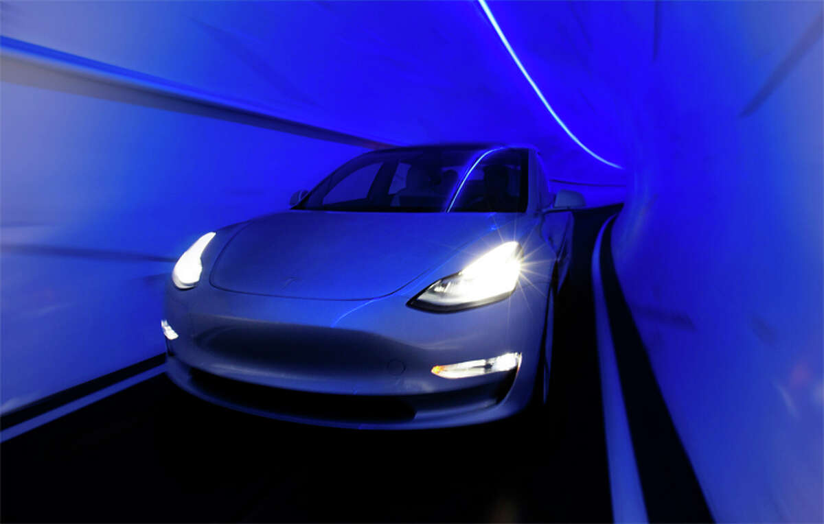 The Boring Company Las Vegas Convention Center Loop would use Tesla-built electric vehicles to carry passengers.