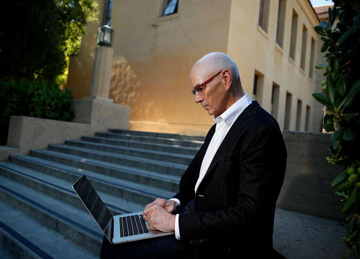 Portrait of Professor Byron Reeves, of communications at Stanford and a co-founder of the Stanford Screenomics Lab, which is studying cell phone usage and habits. At Stanford University, Stanford, California, on Thursday, August 4, 2020.