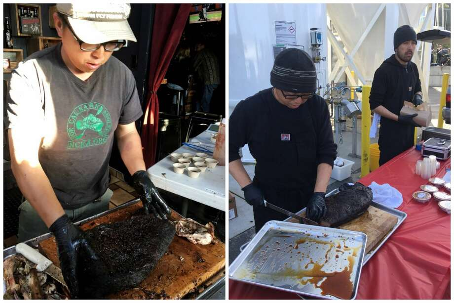 Marvin Lau, co-founder of the Native Sons BBQ pop-up, has died at age 42 after a long battle with cancer. Photo: Tiff T. (left), Dexter D. (right) Via Yelp