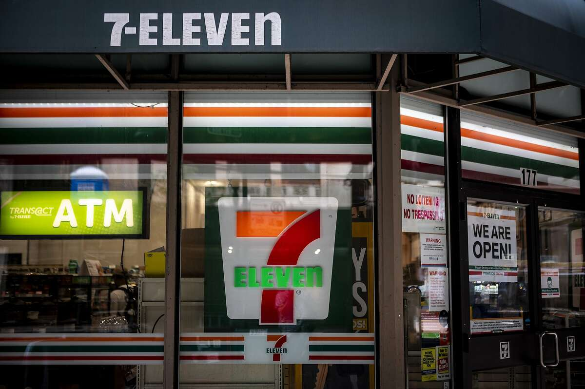 Signage is displayed outside a 7-Eleven store in Chicago, Illinois. Amendments are proposed to Darien's current zoning regulations to accomodate these plans.