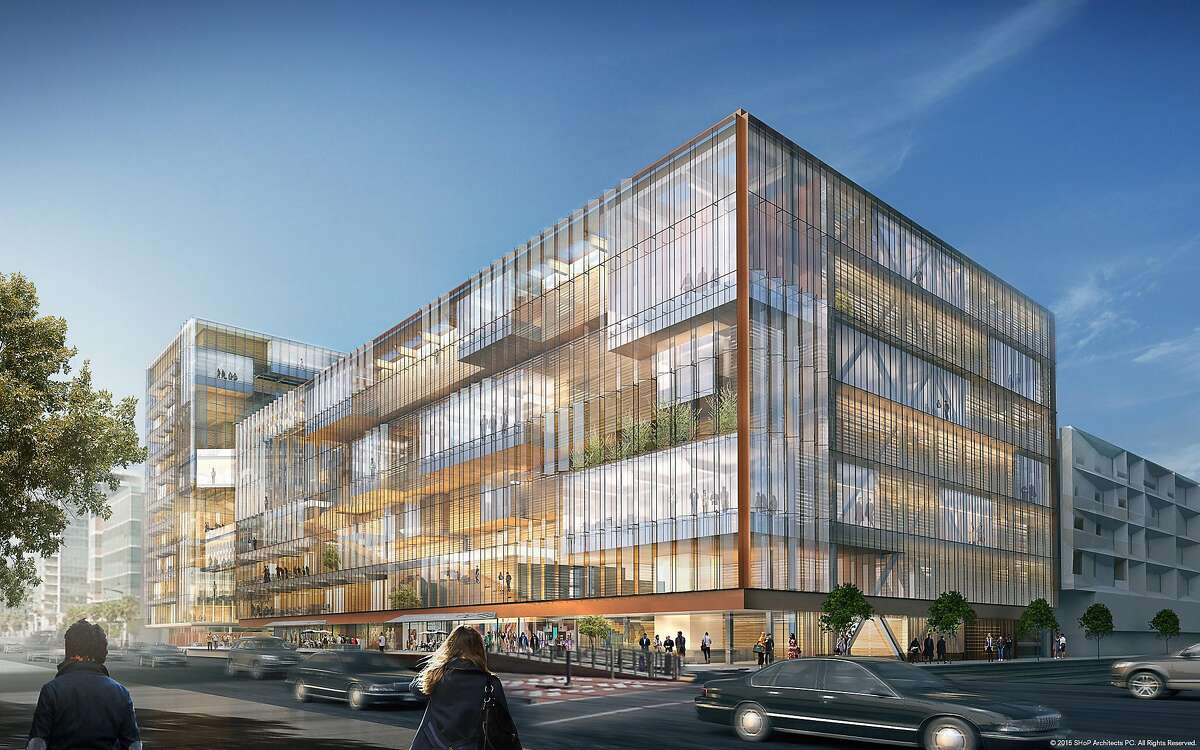 Rendering of Uber's new headquarters in Mission Bay
