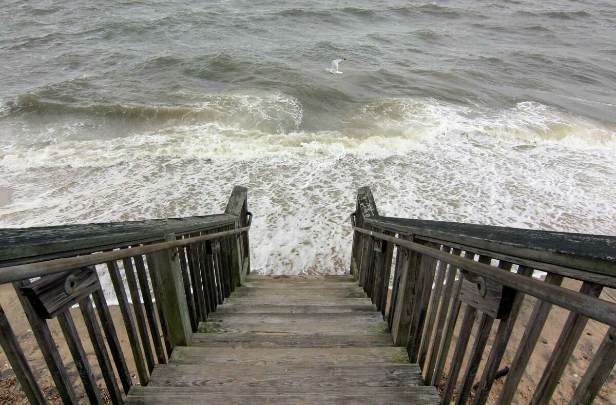 Tropical storm Isaias passes through West Haven, Conn., on Tuesday Aug. 4, 2020. The storm is bringing wind gusts of up to 70 miles per hour and heavy rain to coastal areas when it arrives in Connecticut Tuesday afternoon, according to the National Weather Service.
