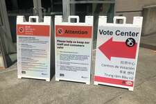 The vote center in Seattle remained largely empty Tuesday on the day of Washington's primary election.