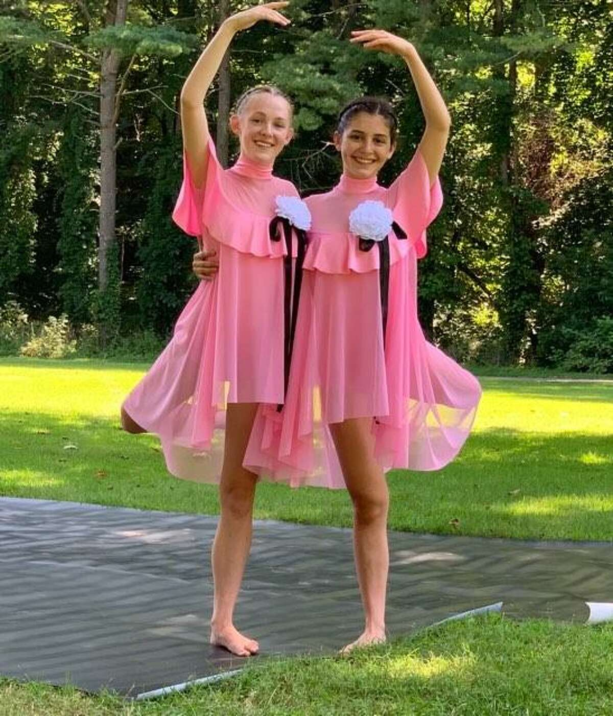Lindsey Federowicz and Gigi Esposito perform as Tweedle Dee and Tweedle Dum in a duet choreographed by Studio D Director Rebecca Anderson Darling.