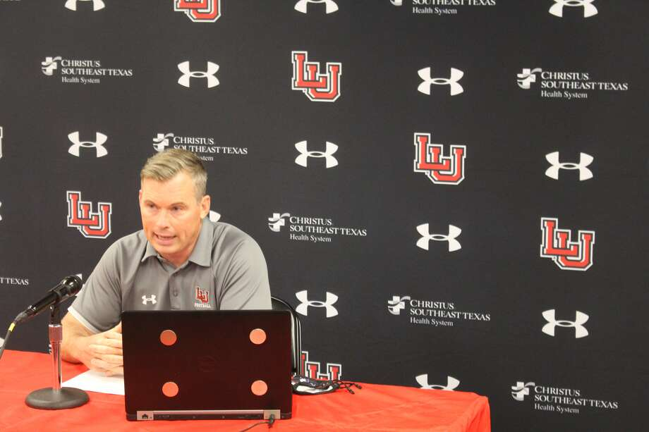 Lamar University head football coach addresses the media during Tuesday's virtual media day. Photo: Lamar Athletics