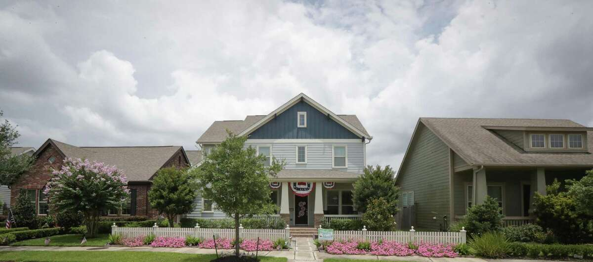 Bridgeland honored the Yard of the Month award to this home in the Houston region's top selling community as home starts rose 61 percent in 2019 and are strong again this year Monday, July 6, 2020, in Cypress.