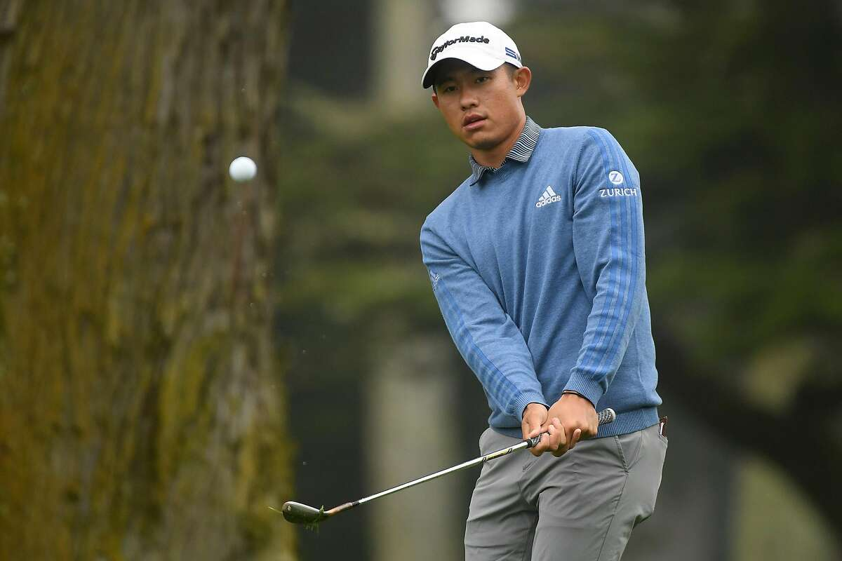 SAN FRANCISCO, CALIFORNIA - AUGUST 04: Collin Morikawa of the United States plays a shot on the second hole during a practice round prior to the 2020 PGA Championship at TPC Harding Park on August 04, 2020 in San Francisco, California. (Photo by Harry How/Getty Images)