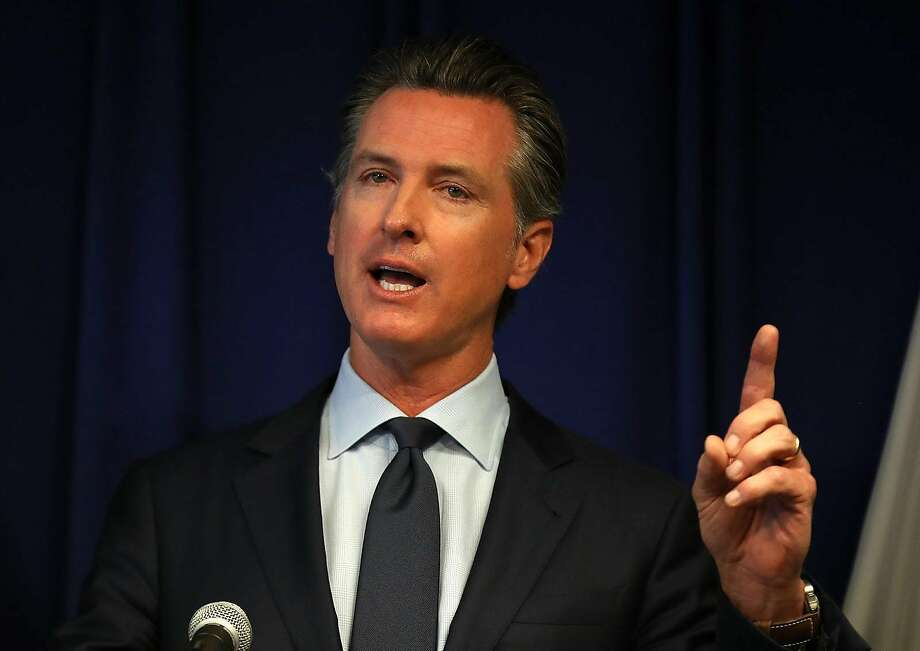 California Gov. Gavin Newsom speaks during a news conference at the California justice department on September 18, 2019, in Sacramento, California. Photo: Justin Sullivan / TNS
