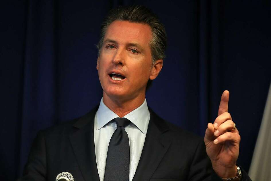 California Gov. Gavin Newsom speaks during a news conference at the California justice department on September 18, 2019, in Sacramento, California. (Justin Sullivan/Getty Images/TNS)