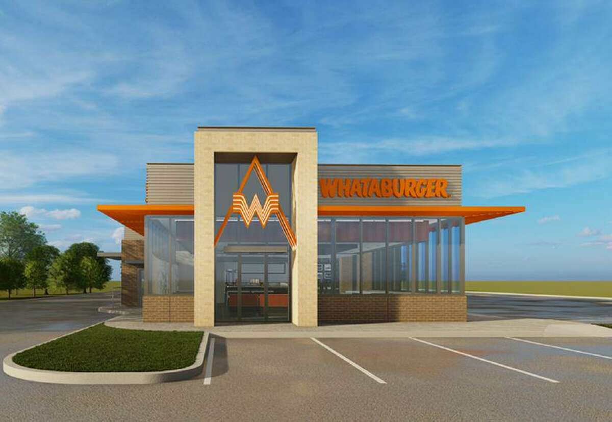 A prototype for new Whataburger restaurants reveals a modern, boxy building with expansive glass windows. The chain's distinct