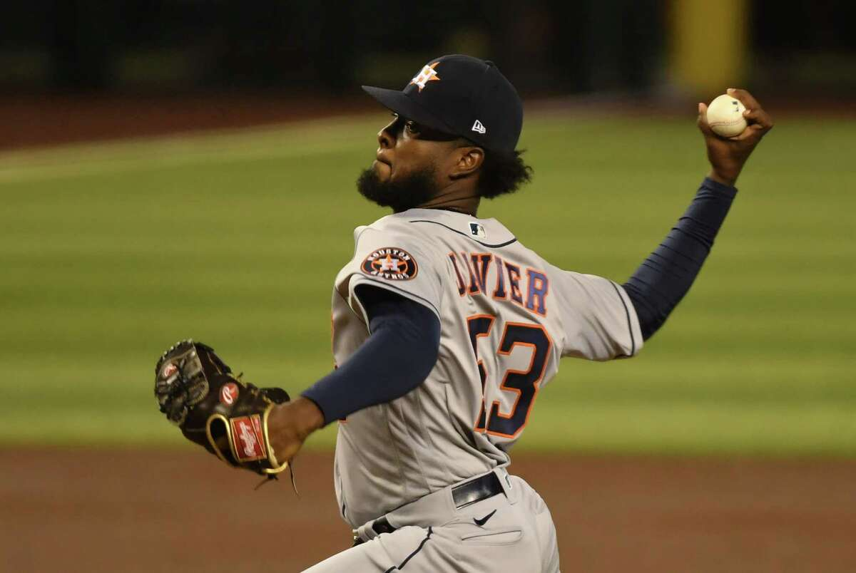 Astros rookie Cristian Javier enjoyed stellar run support as he picked up his first major league win Tuesday night at Arizona.