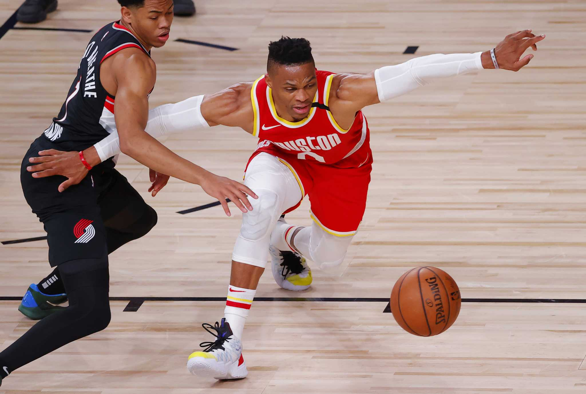 Rockets' Russell Westbrook ruled out of Friday's game, will be reevaluated before playoffs