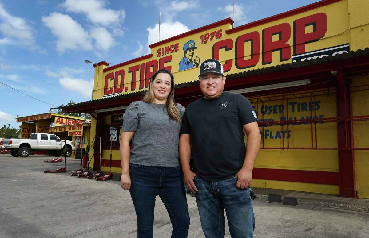 Gabriela and Enrique Rodriguez now run the original CD Tire shop started by her father in 1976.