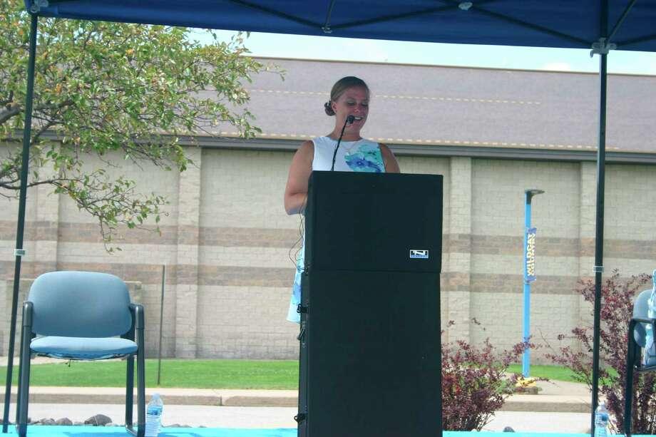 Evart High School principal Jessica Kolenda introduced the class of 2020.