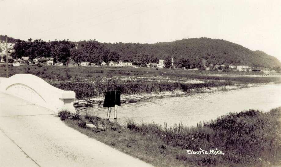 The M-22 bridge between Frankfort and Elberta around 1940. (Courtesy photo)