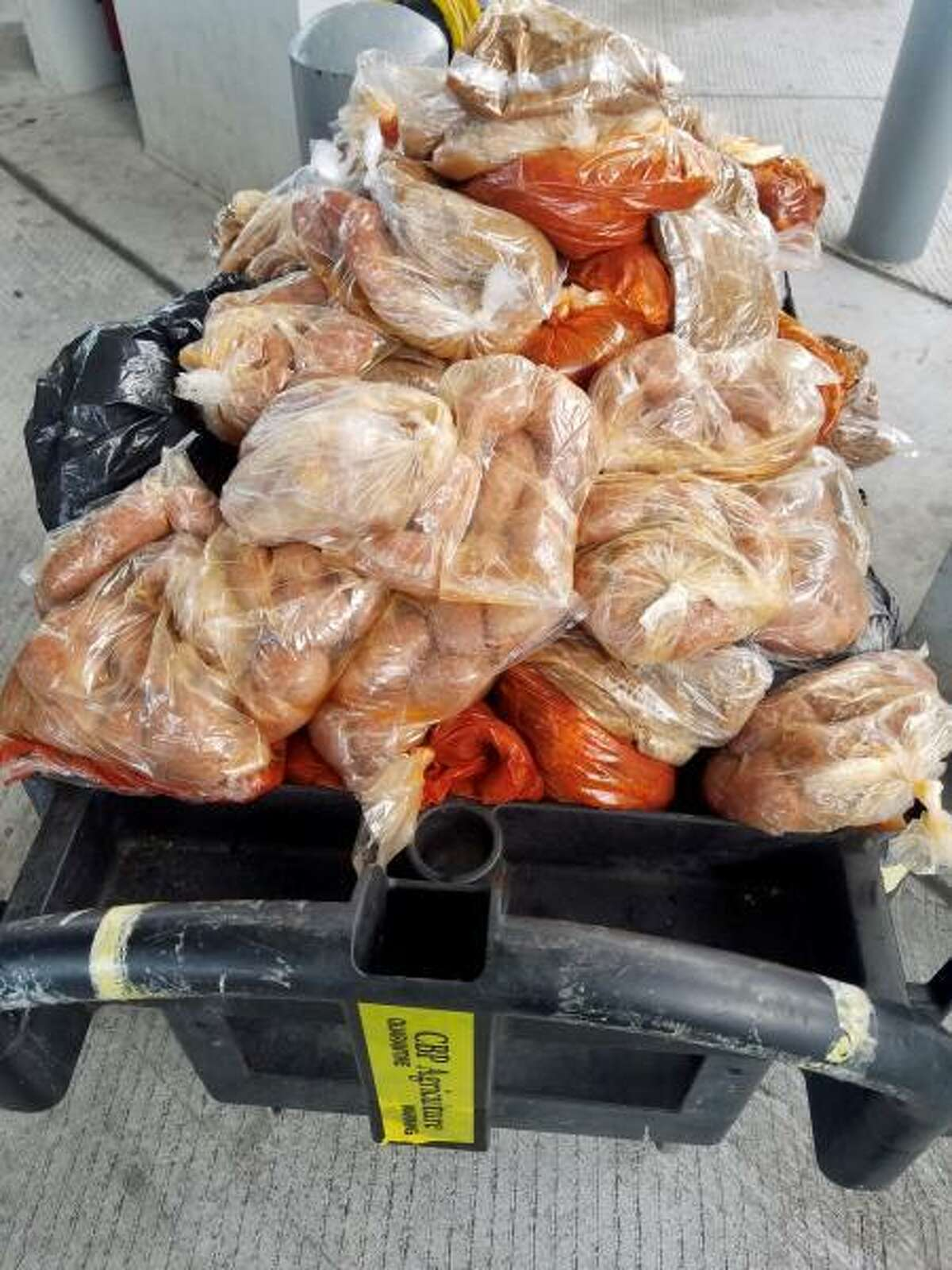 201 pounds of pork was found hidden inside the engine compartment of a 1980 F-150 at the Texas-Mexico border on Wednesday, July 29.