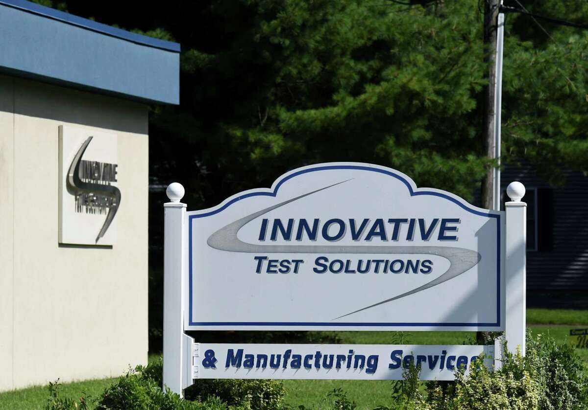 An explosion that sent three people to the hospital was reported at Innovative Testing Solutions on Wednesday, Aug. 5, 2020, on Kings Road in Schenectady, N.Y. (Will Waldron/Times Union)