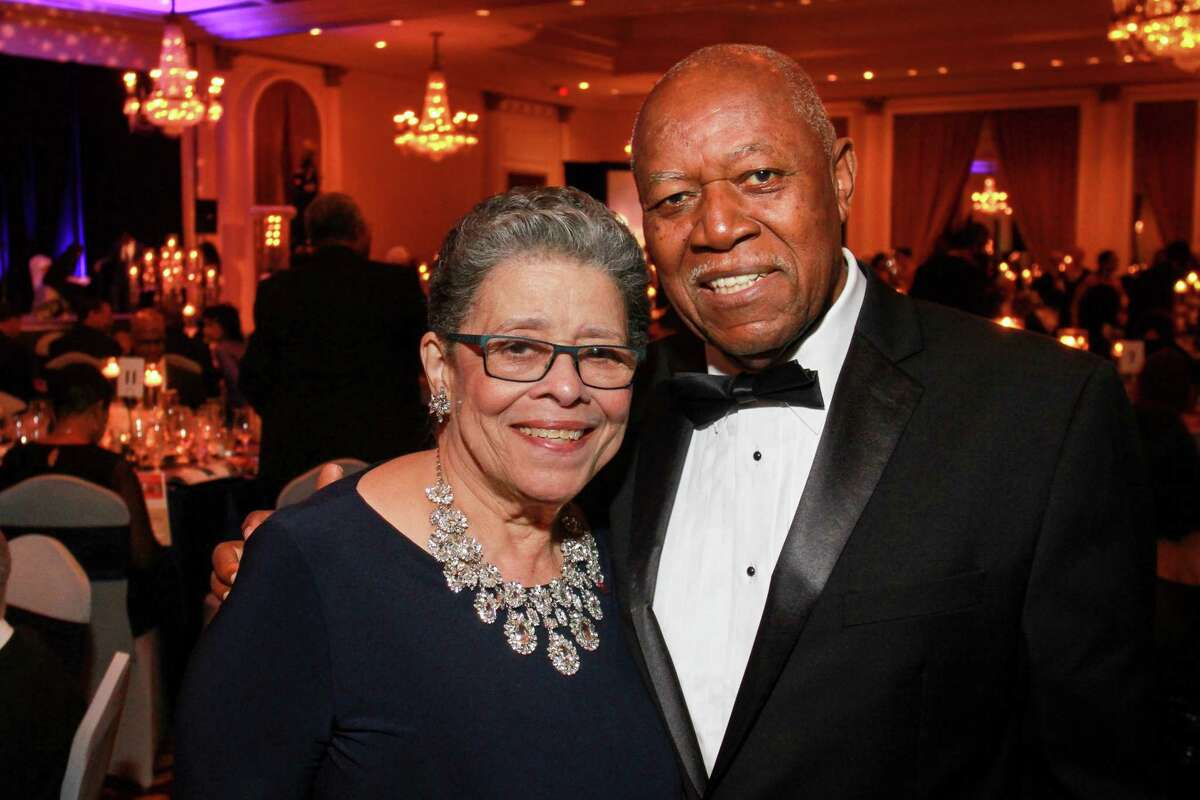Patricia and Richard Sewing at the Houston Medical Forum's 26th Annual Scholarship Gala. (For the Chronicle/Gary Fountain, December 4, 2015)
