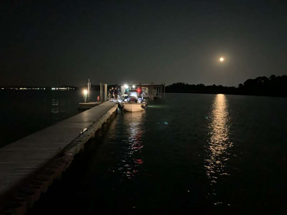 First responders are seen at the recovery site of a man who on Tuesday, Aug. 4 drowned on Lake Conroe in the Walden subdivision. Photo: Courtesy Of Montgomery County Precinct 1 Justice Of The Peace Wayne Mack